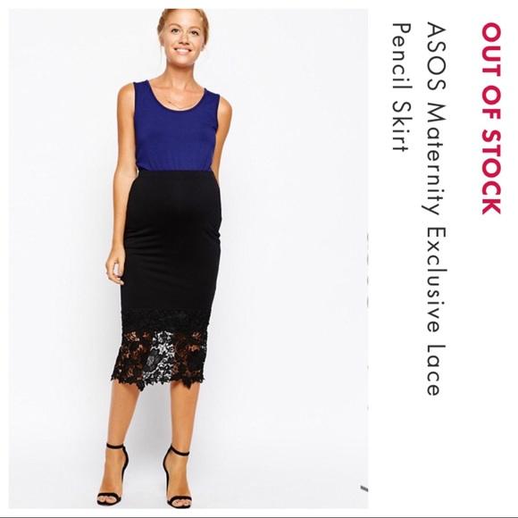 73aae2d53b2 ASOS Maternity Dresses   Skirts - ASOS Maternity Black Jersey Pencil Skirt
